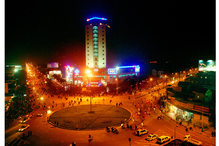 Một góc Thành phố Hà Tĩnh về đêm
