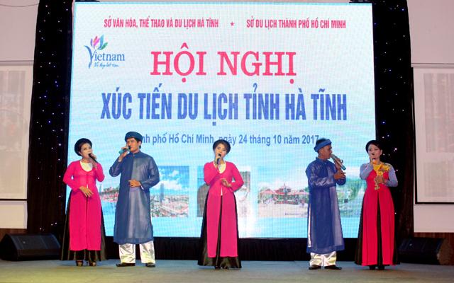 Hội nghị Xúc tiến Du lịch Hà Tĩnh tại TP.Hồ Chí Minh, Ảnh: Quỳnh Trang